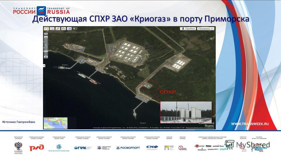 20 Действующая СПХР ЗАО «Криогаз» в порту Приморска Источник: Газпромбанк