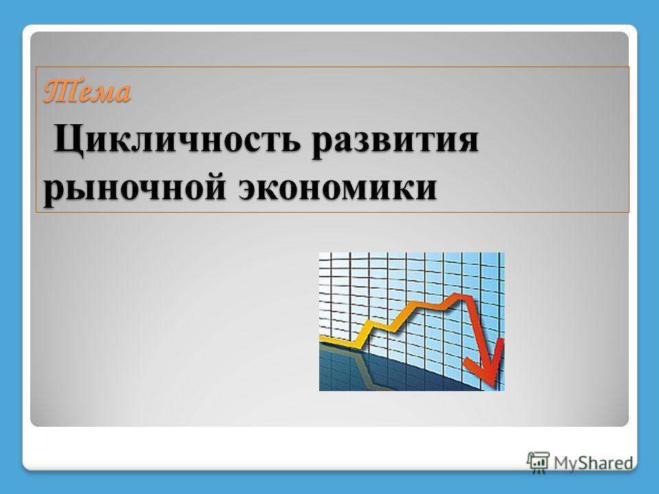 Тема Цикличность развития рыночной экономики