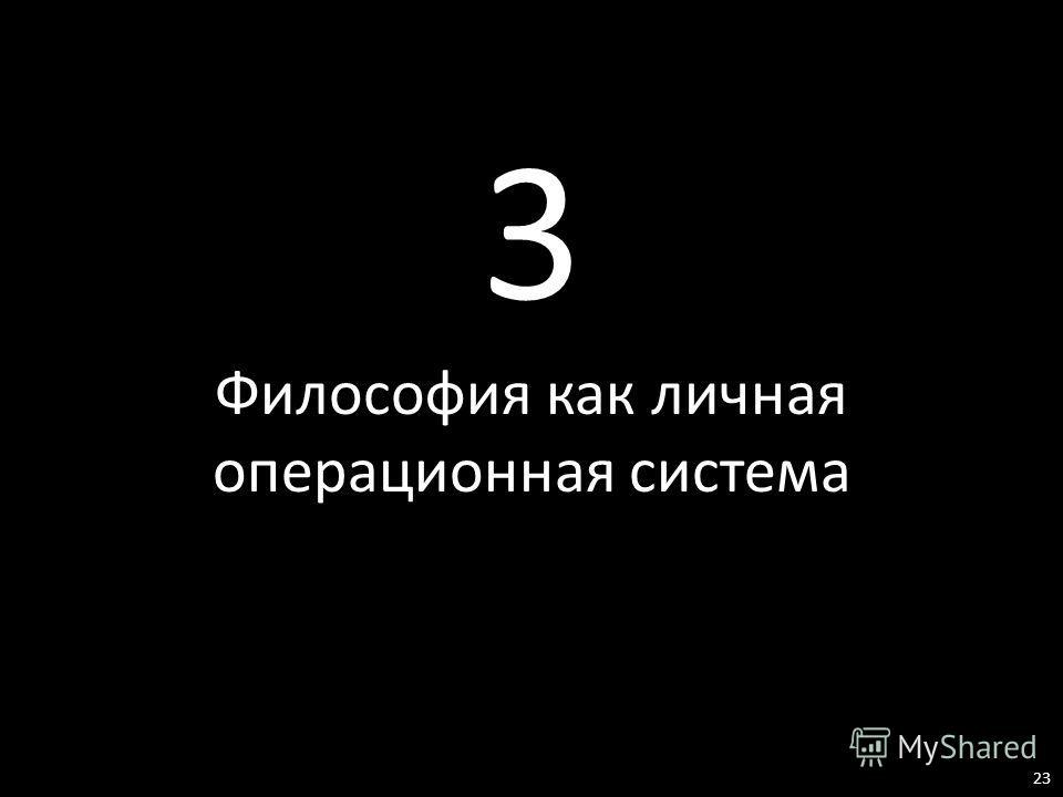 3 Философия как личная операционная система 23
