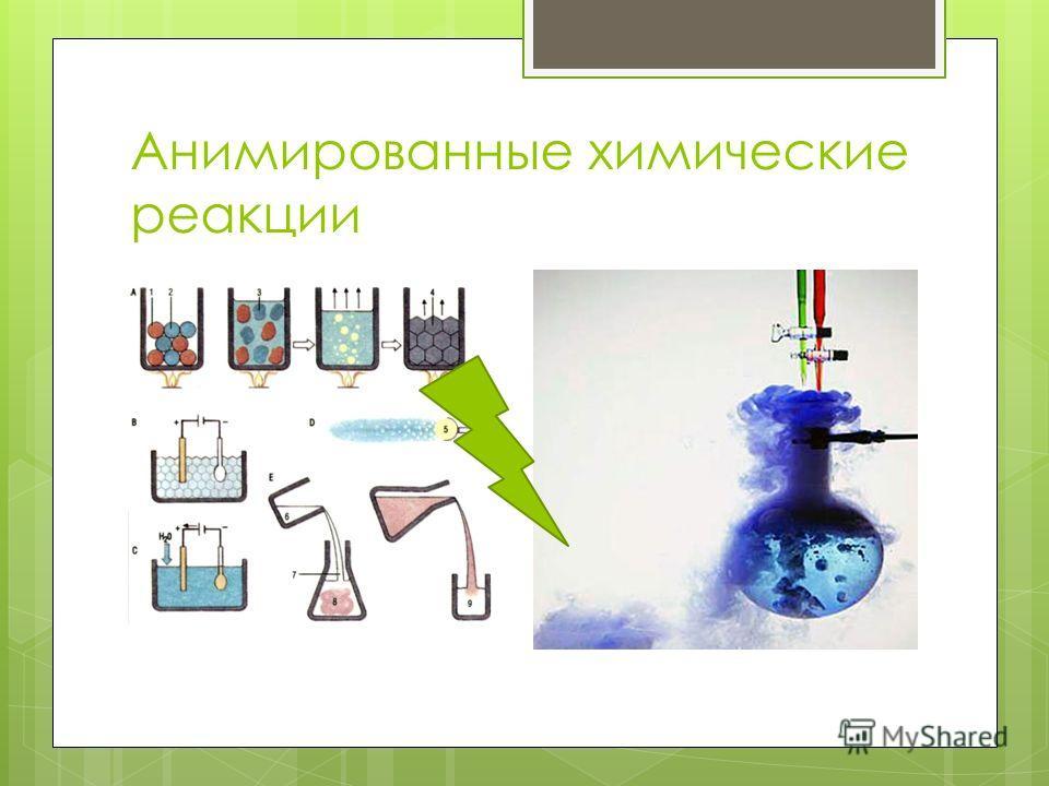Анимированные химические реакции