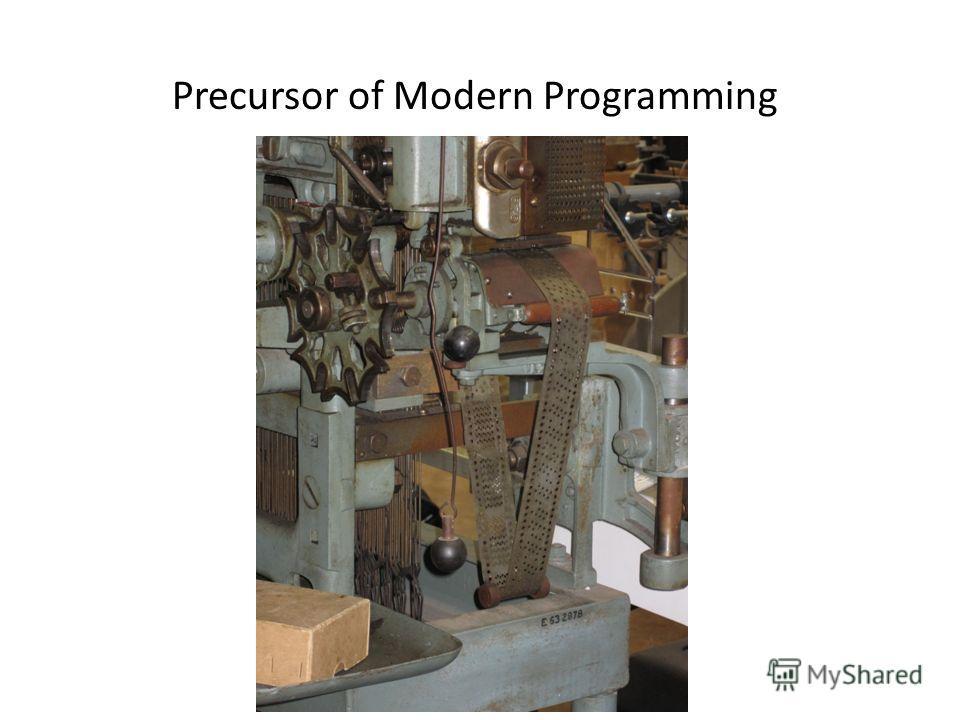 Precursor of Modern Programming