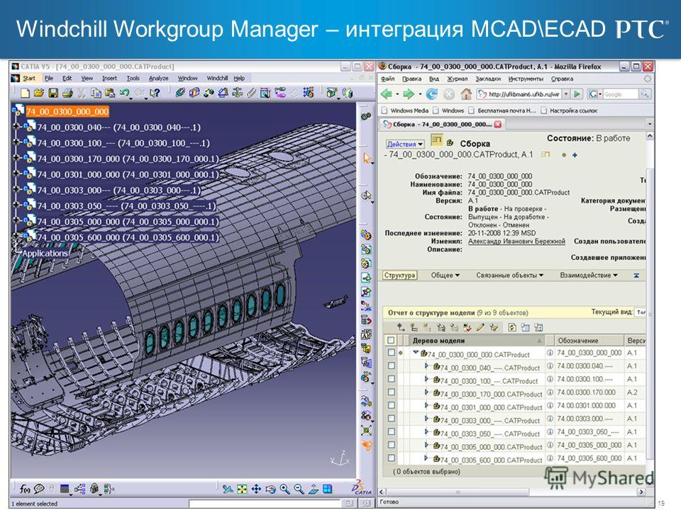 19 Windchill Workgroup Manager – интеграция MCAD\ECAD © 2006 PTC