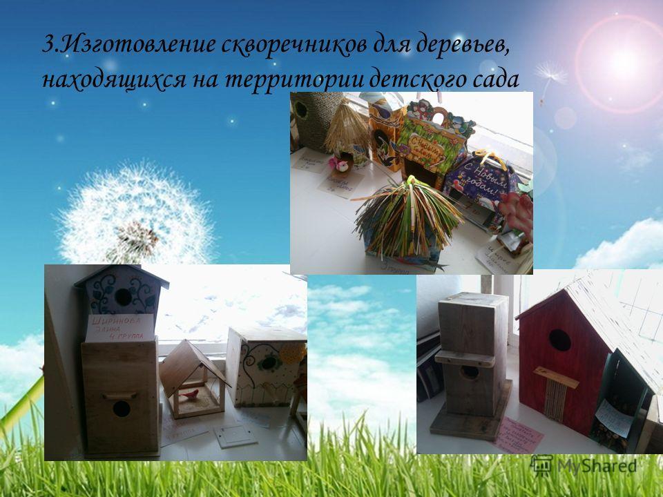 3. Изготовление скворечников для деревьев, находящихся на территории детского сада
