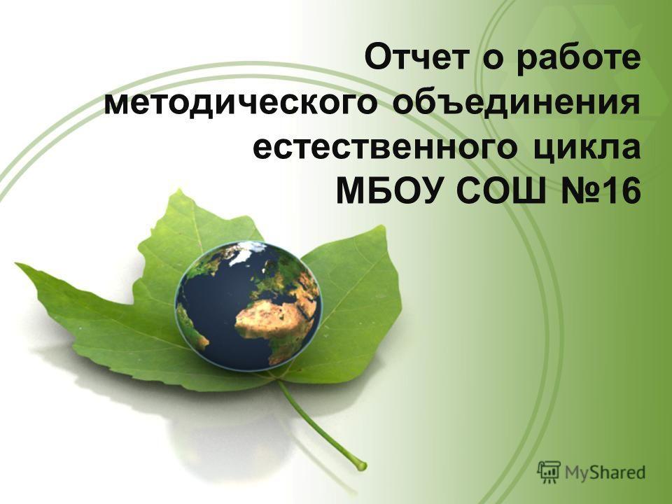 Отчет о работе методического объединения естественного цикла МБОУ СОШ 16