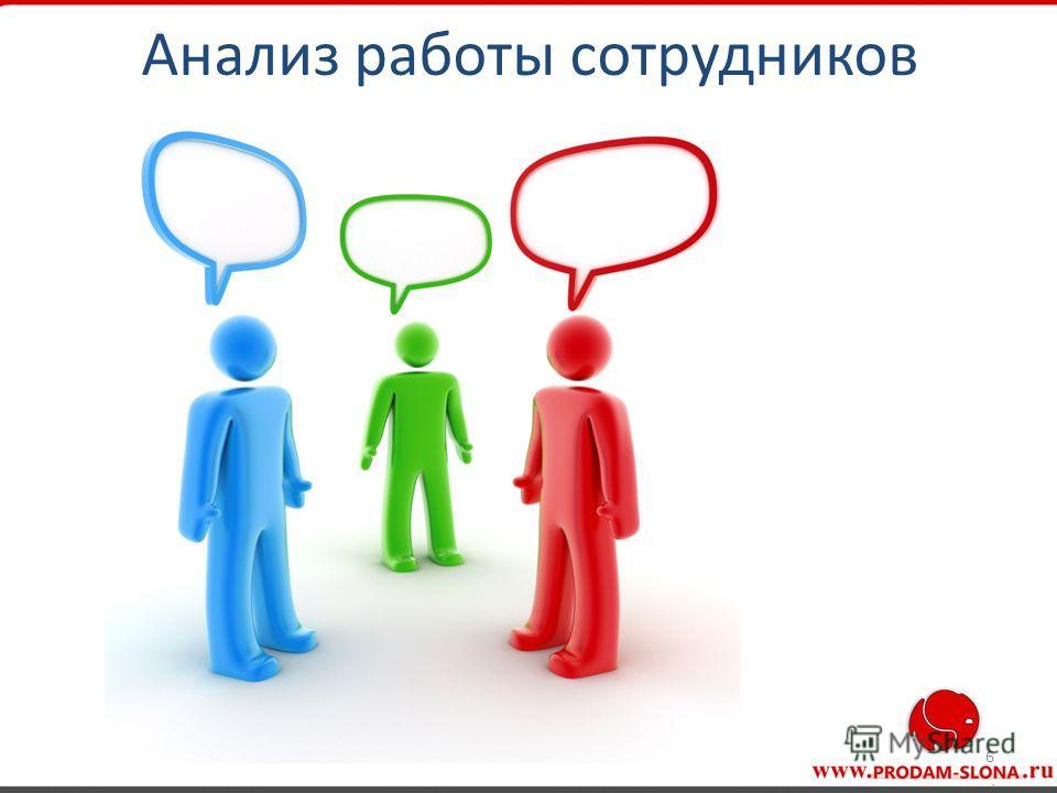 6 Анализ работы сотрудников