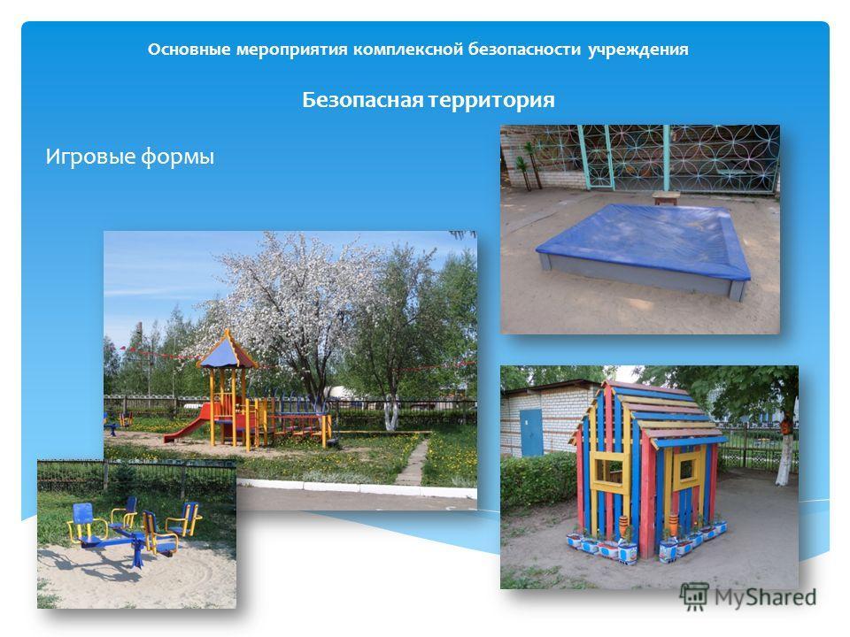 Основные мероприятия комплексной безопасности учреждения Безопасная территория Игровые формы