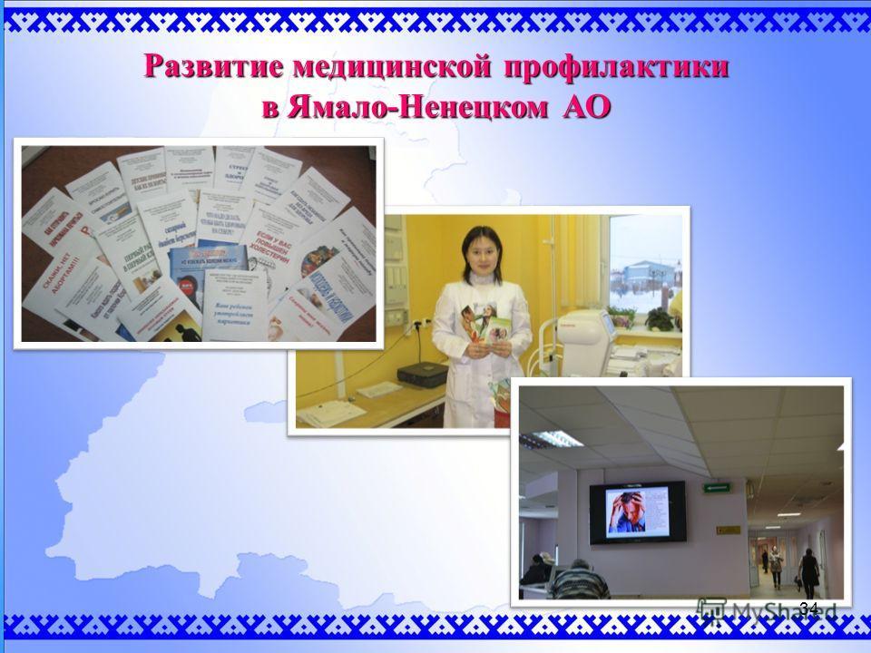 Развитие медицинской профилактики в Ямало-Ненецком АО 34
