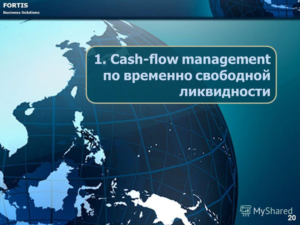 FORTIS Business Solutions 1. Cash-flow management по временно свободной ликвидности 20