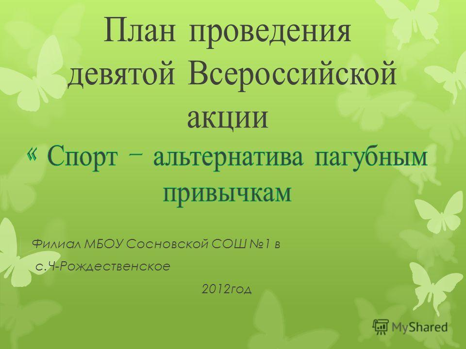 Филиал МБОУ Сосновской СОШ 1 в с.Ч-Рождественское 2012 год