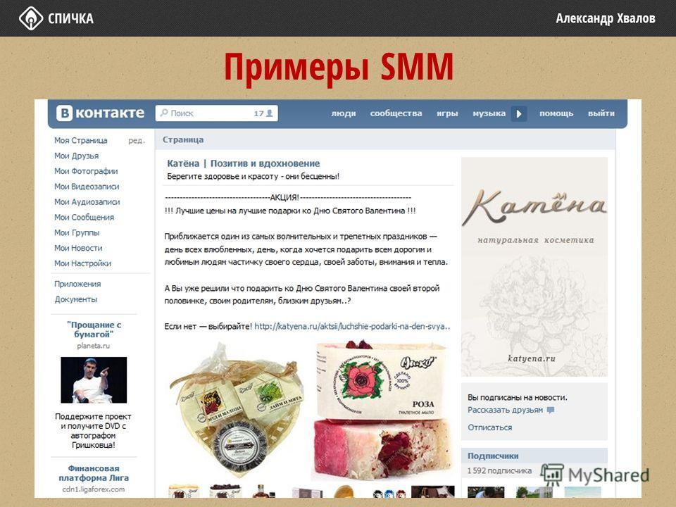 Примеры SMM