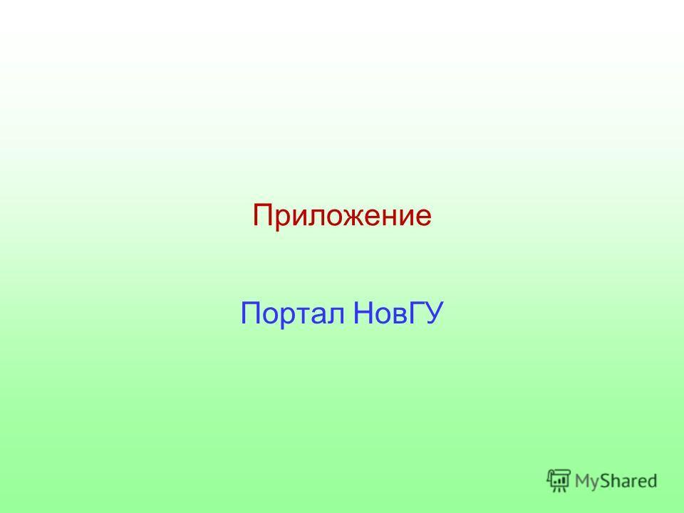 Приложение Портал НовГУ
