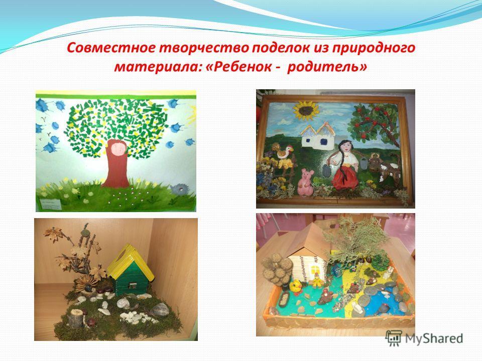 Совместное творчество поделок из природного материала: «Ребенок - родитель»