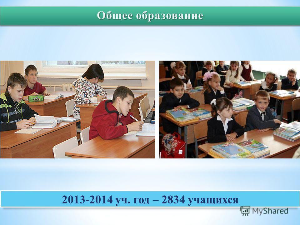 2013-2014 уч. год – 2834 учащихся