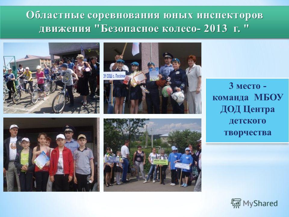 3 место - команда МБОУ ДОД Центра детского творчества
