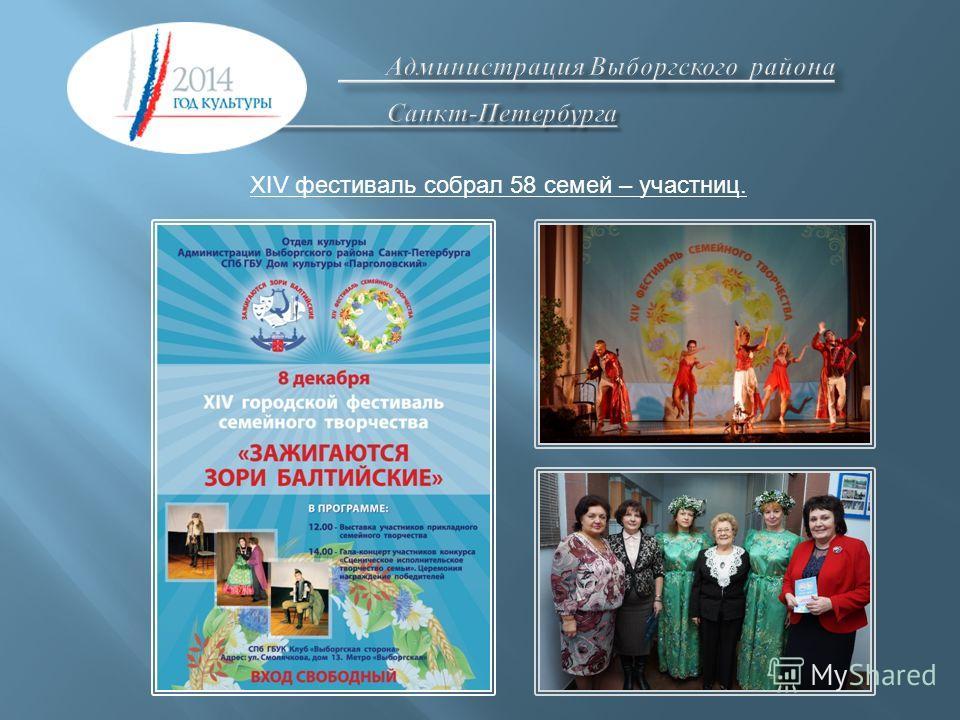 XIV фестиваль собрал 58 семей – участниц.