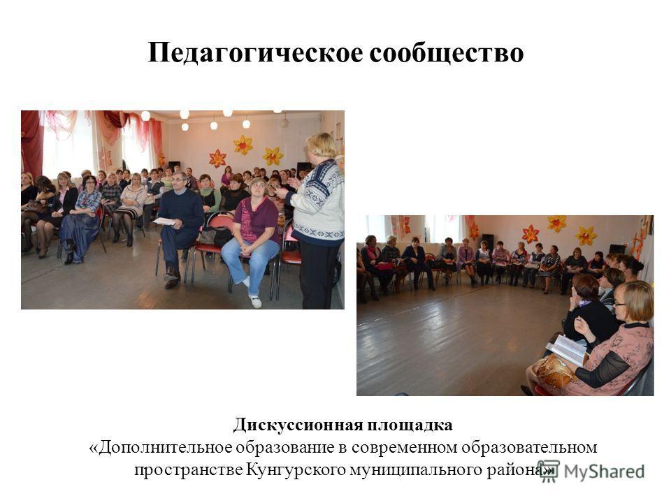 Педагогическое сообщество Дискуссионная площадка «Дополнительное образование в современном образовательном пространстве Кунгурского муниципального района»