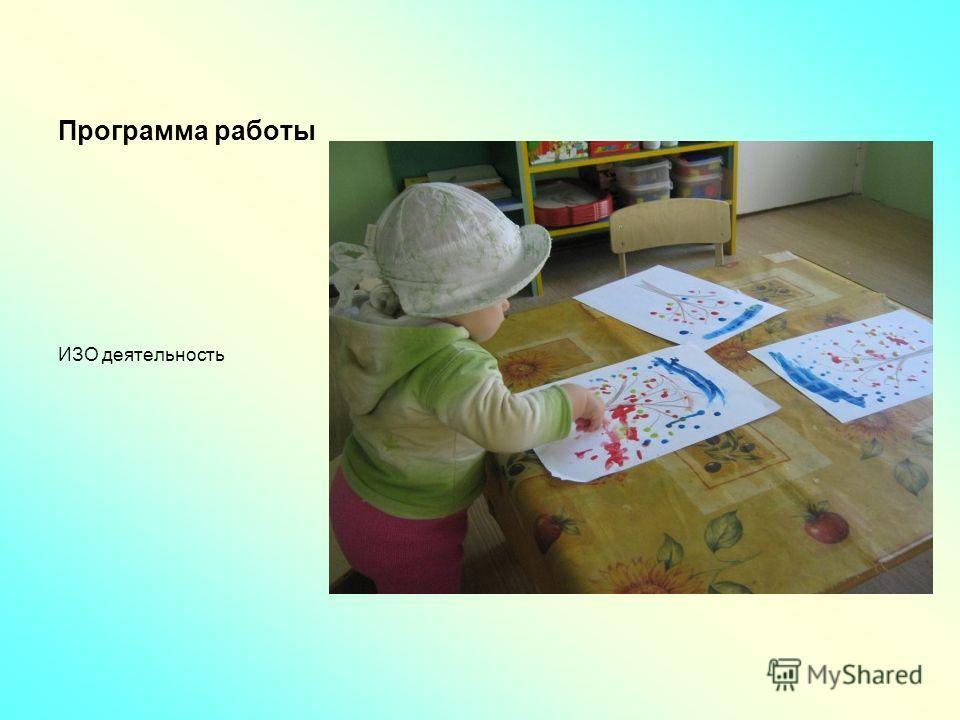 Программа работы ИЗО деятельность