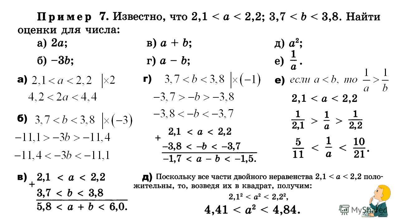 а) б) г) е) в)д)