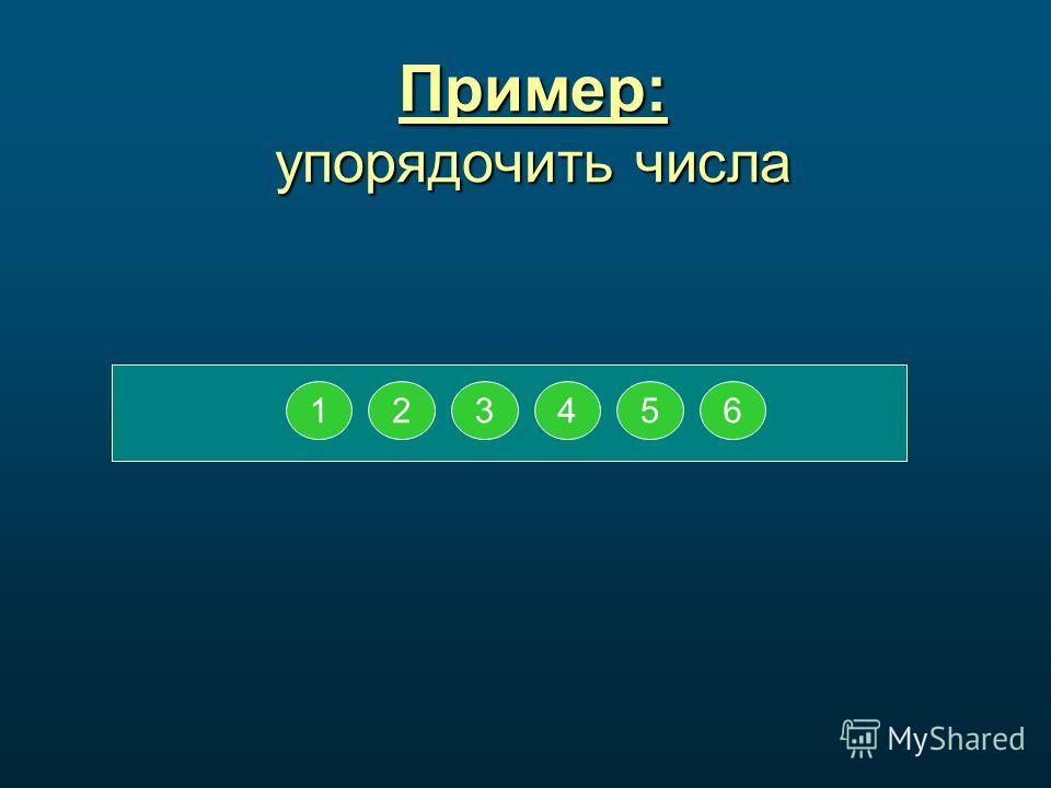 123456 Пример: упорядочить числа 123456123456 123456 12345612345612456 3 12645 3 12645 3 126435126354126354125634125634156342165342165342164532164532164523