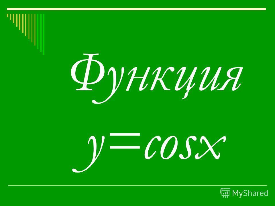 Функция y=cosx