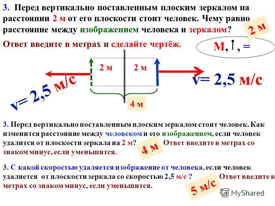 2. Каким должен быть угол падения светового луча, чтобы отраженный луч составлял с падающим угол 60°? Ответ введите в градусах. 2. Как изменится угол между падающим и отраженным лучами света, если угол падения уменьшится на 15°? Ответ введите в граду