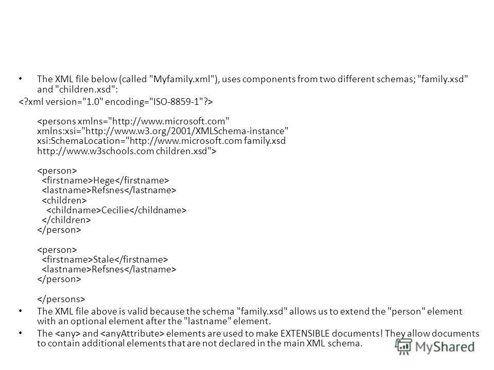 The XML file below (called