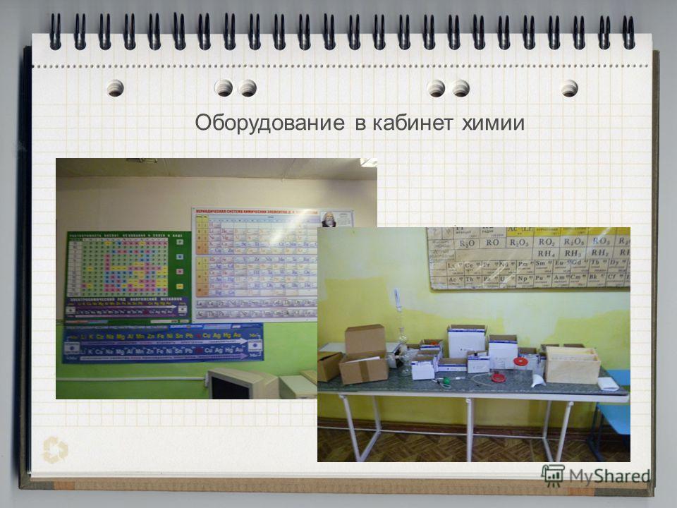 Оборудование в кабинет химии