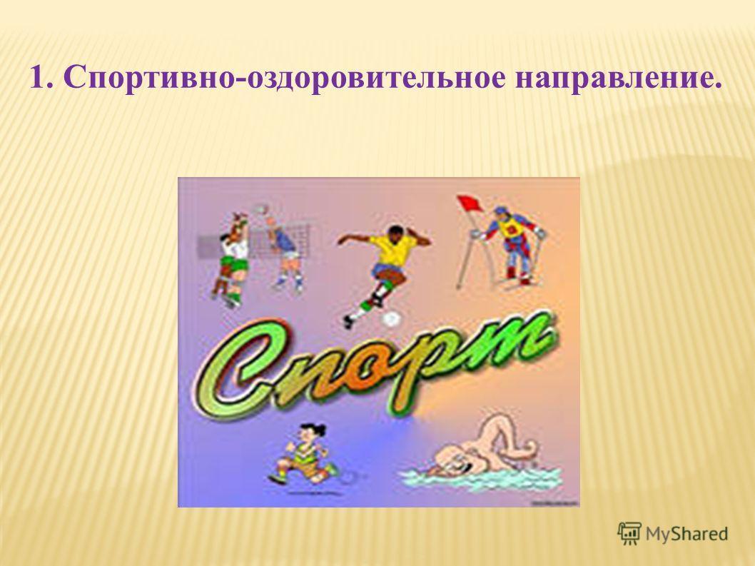 1. Спортивно-оздоровительное направление.