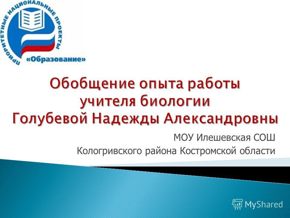 МОУ Илешевская СОШ Кологривского района Костромской области