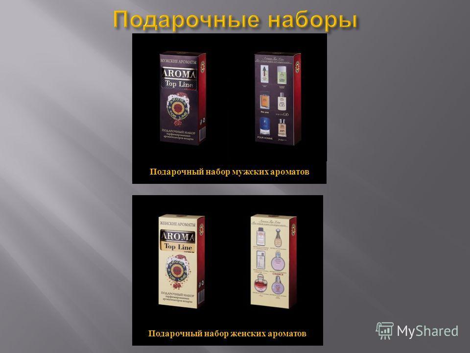 Подарочный набор мужских ароматов Подарочный набор женских ароматов