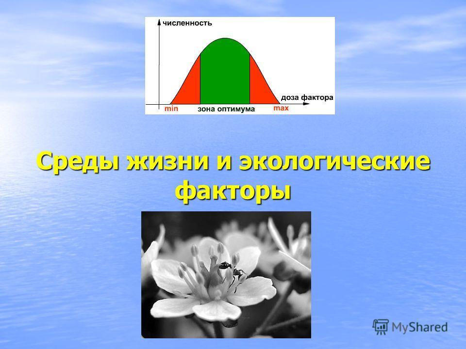 Среды жизни и экологические факторы
