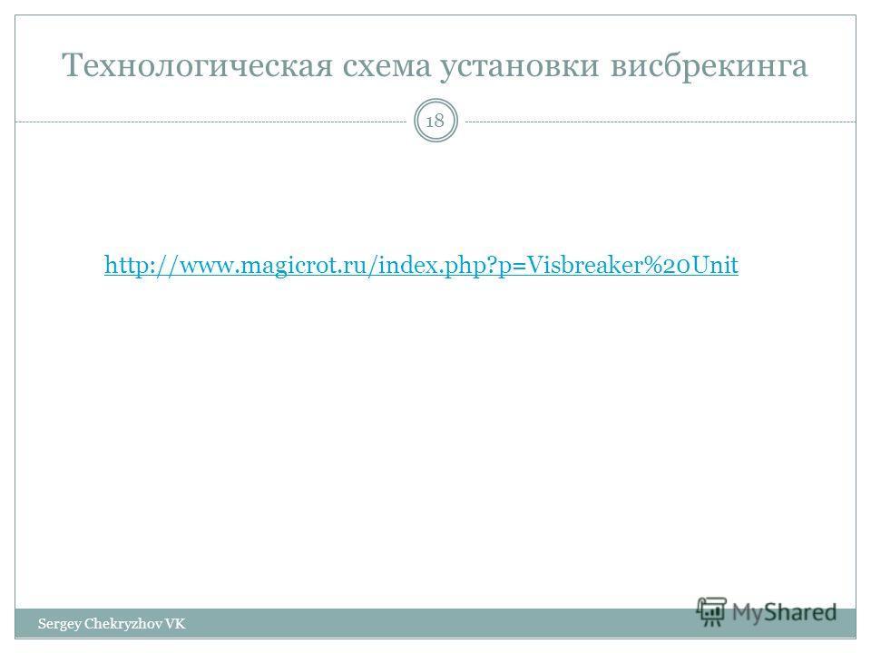 Технологическая схема установки висбрекинга http://www.magicrot.ru/index.php?p=Visbreaker%20Unit 18 Sergey Chekryzhov VK