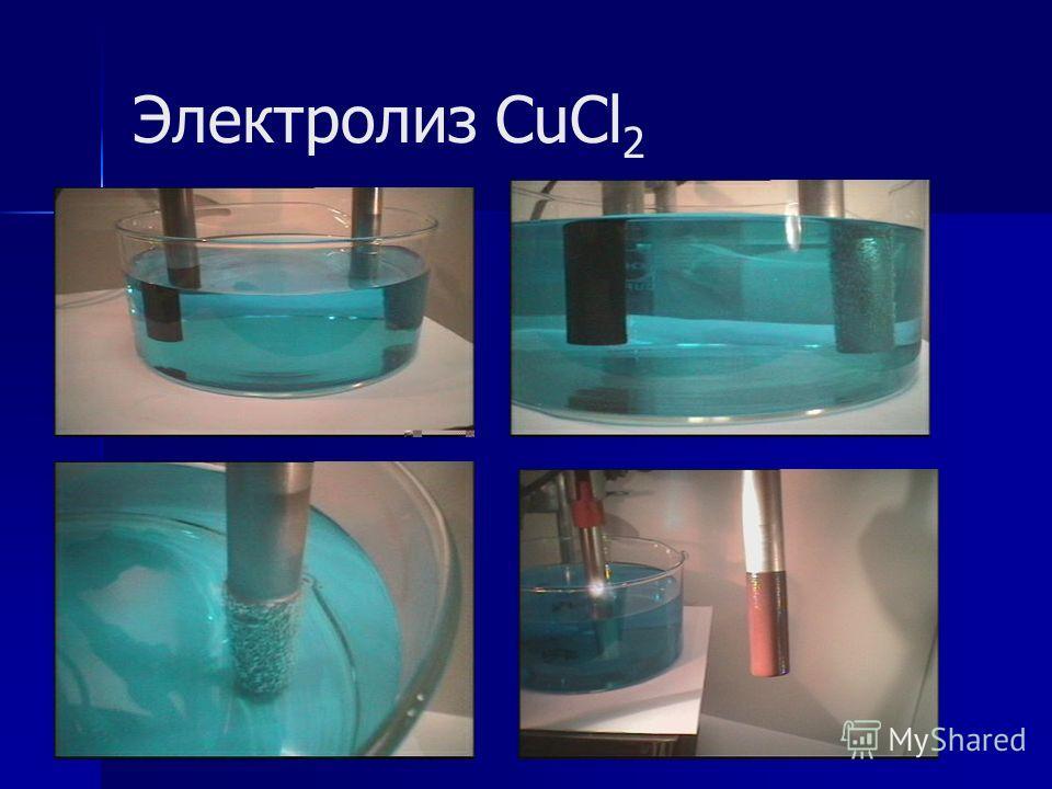 Электролиз CuCl 2