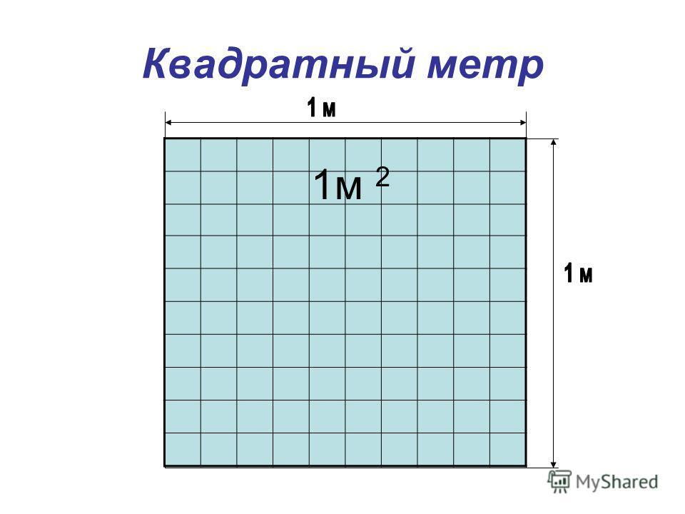 Квадратный метр 1 м 2