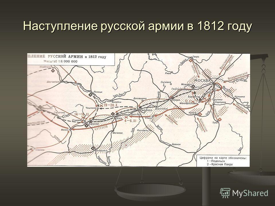 Наступление русской армии в 1812 году