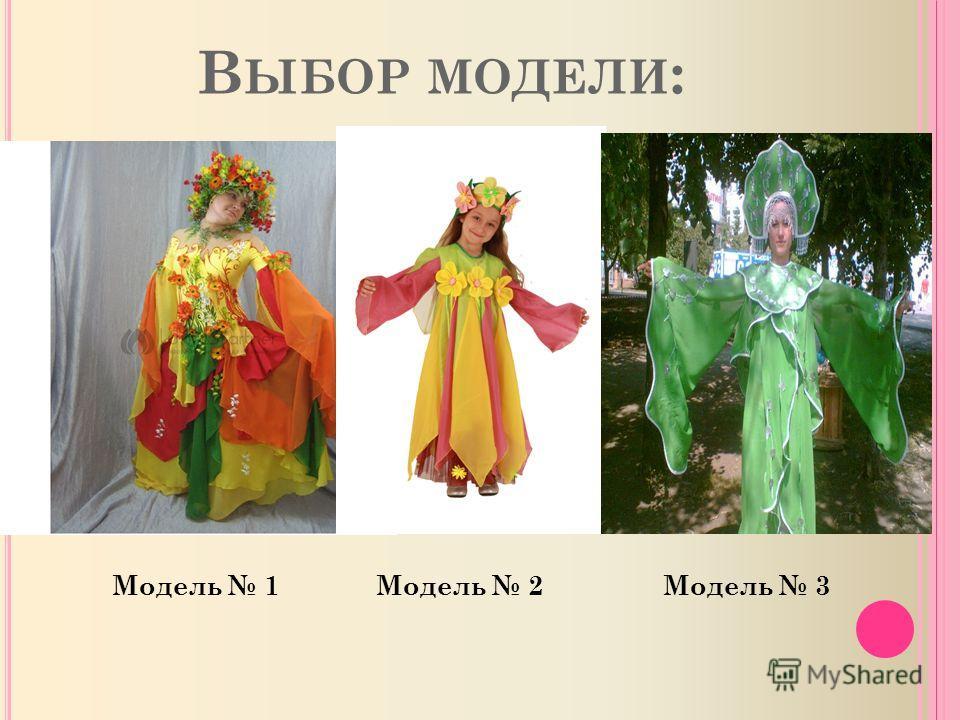 В ЫБОР МОДЕЛИ : Модель 1Модель 3Модель 2