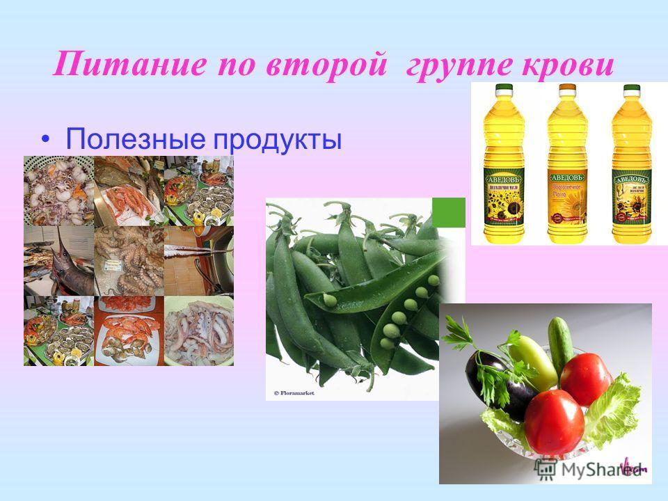 Питание по второй группе крови Полезные продукты