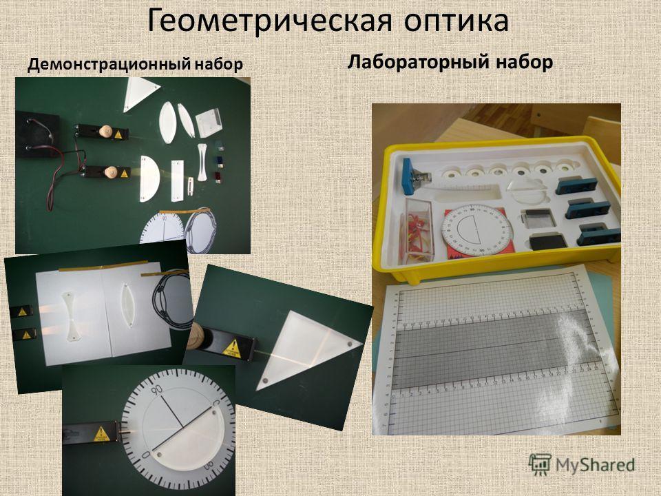 Геометрическая оптика Демонстрационный набор Лабораторный набор