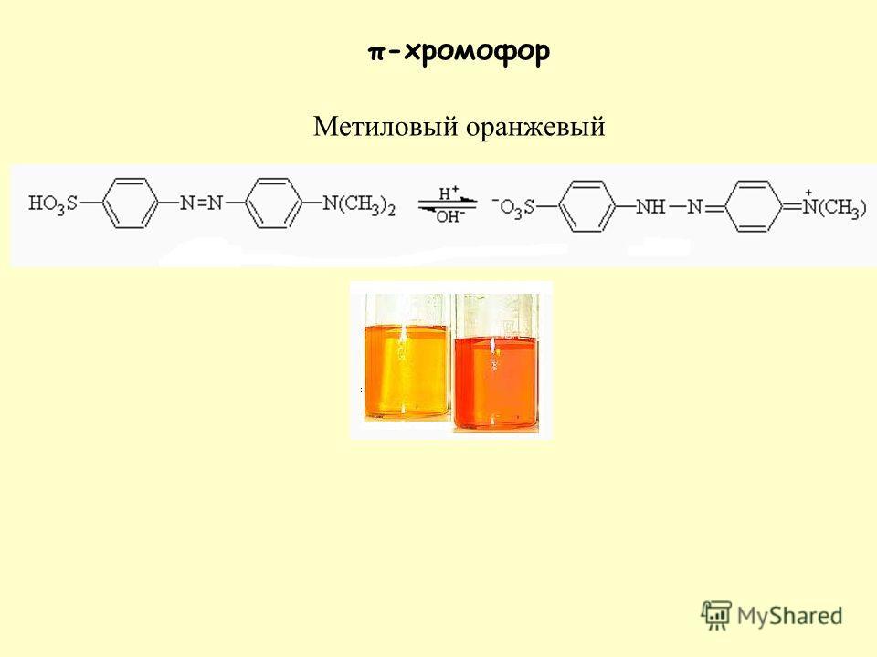 π-хромофор Метиловый оранжевый
