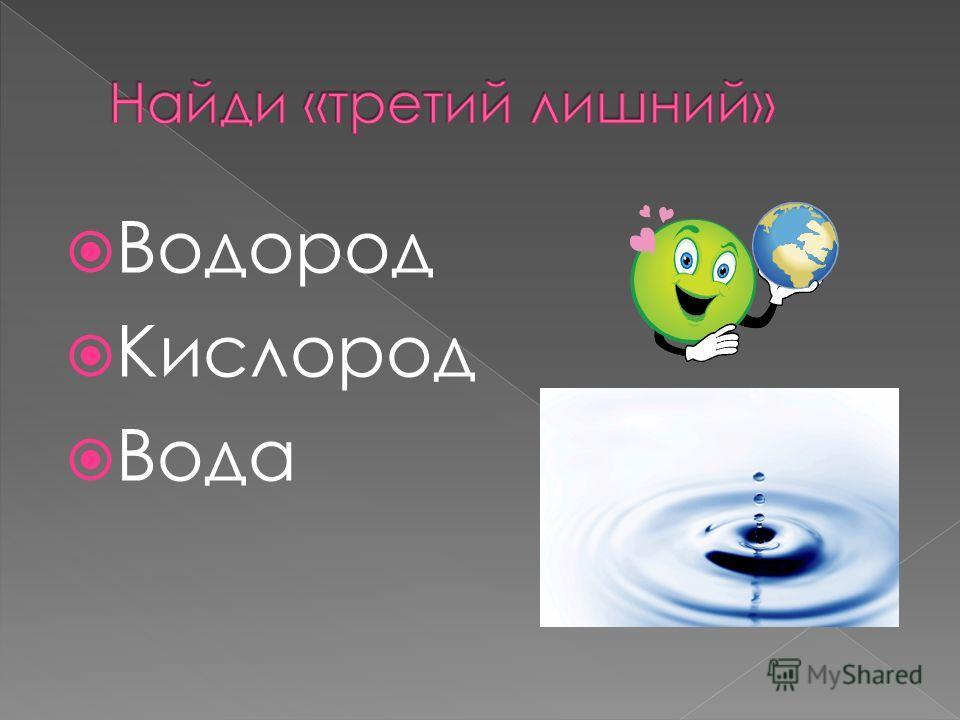Водород Кислород Вода