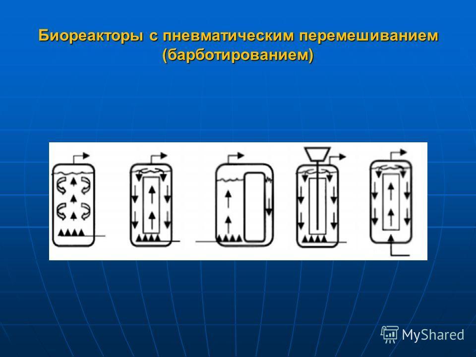 Биореакторы с пневматическим перемешиванием (барботированием)