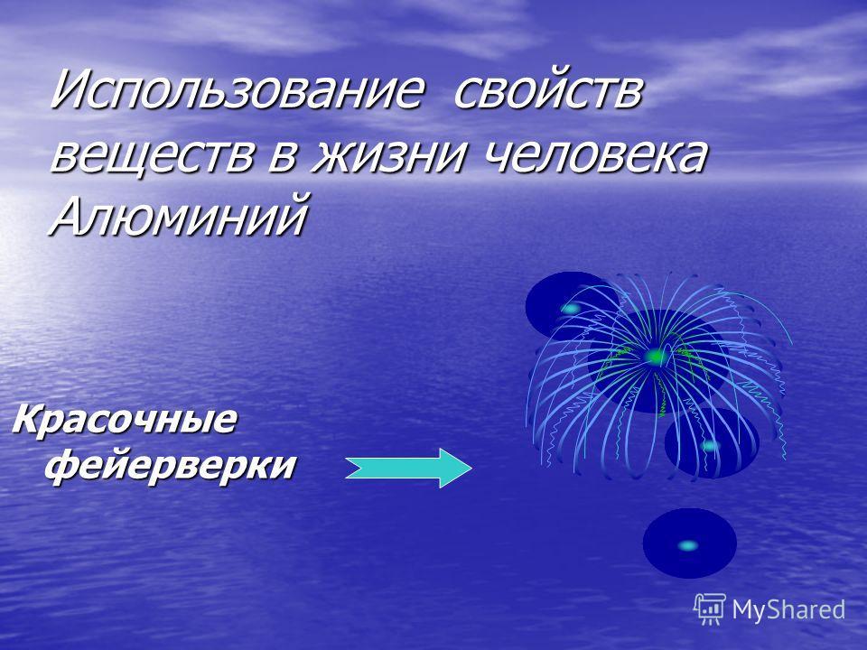 Использование свойств веществ в жизни человека Алюминий Красочные фейерверки