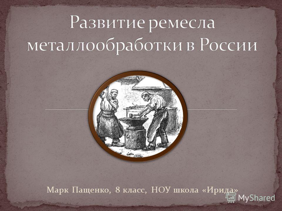 Марк Пащенко, 8 класс, НОУ школа «Ирида»