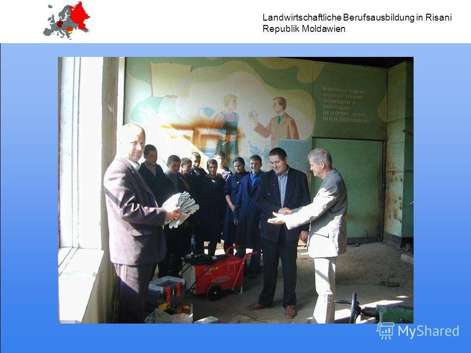 Landwirtschaftliche Berufsausbildung in Risani Republik Moldawien