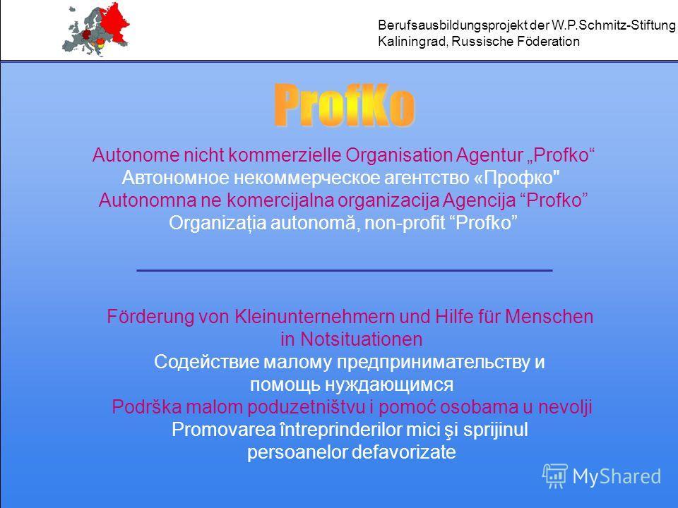 Autonome nicht kommerzielle Organisation Agentur Profko Автономное некоммерческое агентство «Профко