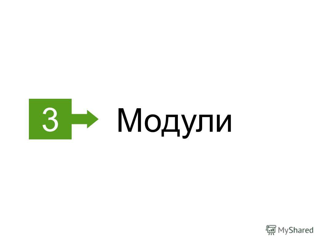 3 Модули