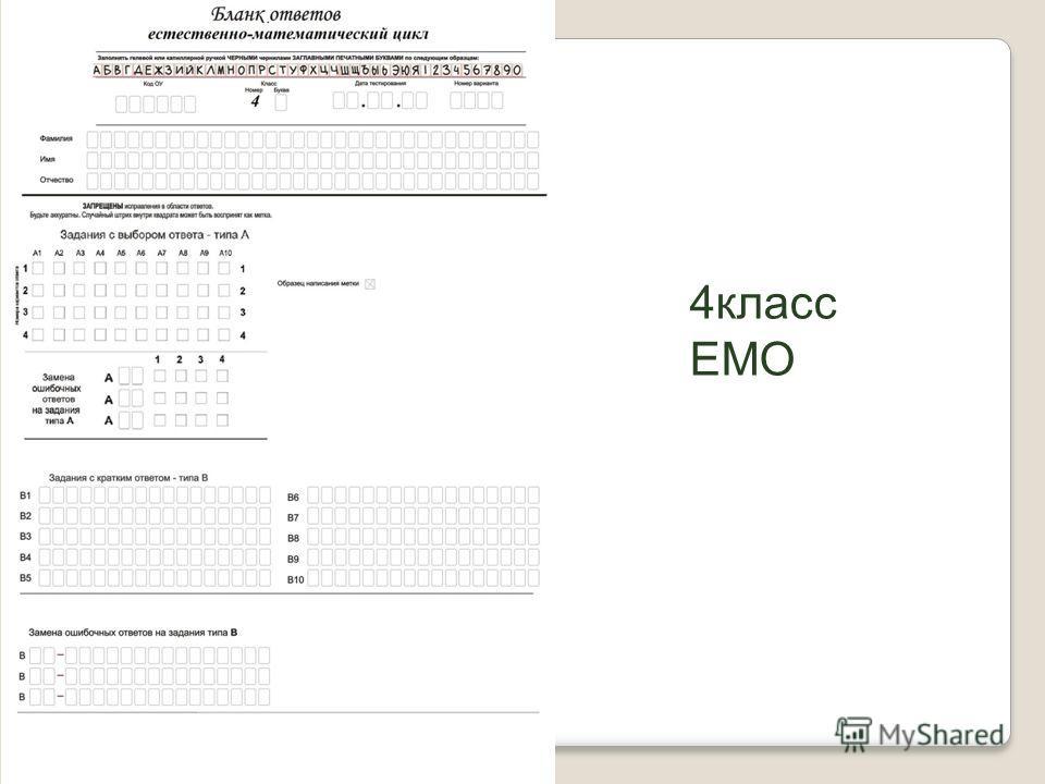 4 класс ЕМО