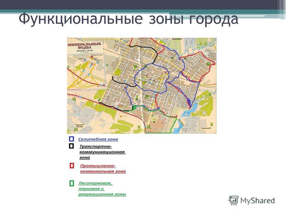 Функциональные зоны города
