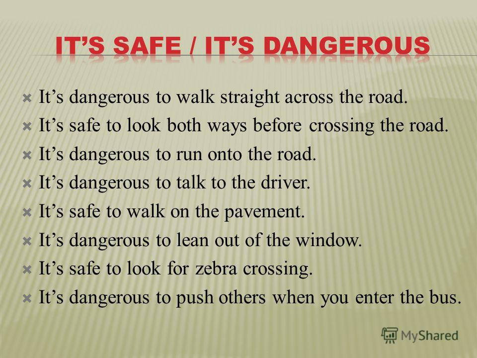 an essay on walk safe drive safe
