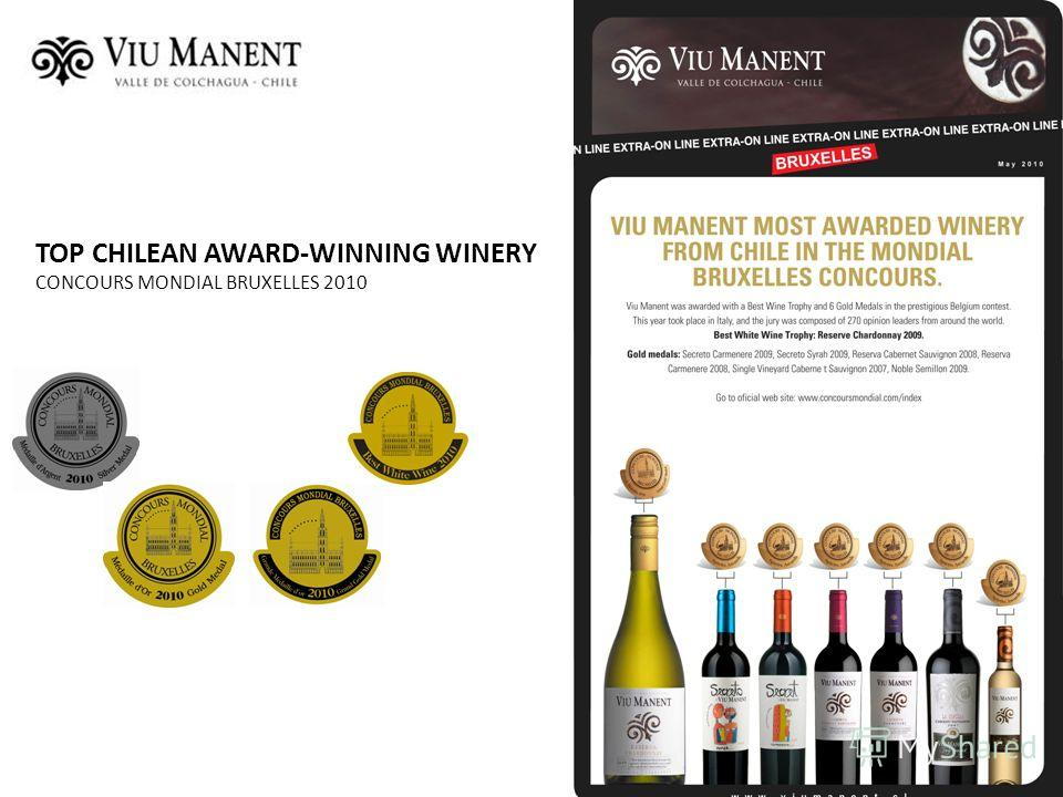 TOP CHILEAN AWARD-WINNING WINERY CONCOURS MONDIAL BRUXELLES 2010